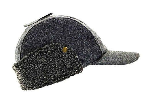 Price comparison product image Apt. 9 Men Flannel Wool Skipper Hat w Ear Flap MAP53HT15 Grey Small / Medium