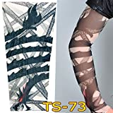 1Pc Unisex Nylon Elastic Temporary Tattoo Sleeve Body Arm Stockings UV Protection Tattoo Arm Sleeves for Men Cover up Stretchable Cosplay Costume Accessories for Men & Women (G)