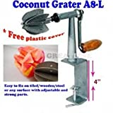 Coconut Grater/scraper/shredder(ODIRIS A-8L) - Stainless Steel Blades with4'' clamp