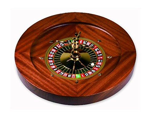 Mahogany Wood & Gold-Plated Professional Style Roulette Wheel