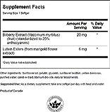 Swanson Lutein & Bilberry 6/20 Milligrams 120 Sgels