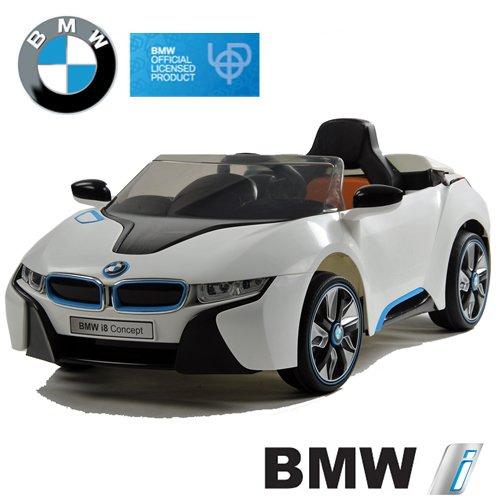 BMW i8 Concept Stromer Cabriolet Ride-On 12V Elektro Kinderauto Kinderfahrzeug Kinder Elektroauto (Weiss)