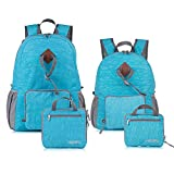 Homfu 30L Foldable Backpacks For Travel Packable Daypack For Hiking Camping Sports Lightweight Shoulder Bag (15L+30L Blue) Review
