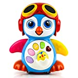 Toysery Musical Dancing Penguin Toy with Music, Story and Learning Modes for Kids | Intelligence Training, Bump and Go Walking and Waving | Sounds and Lights