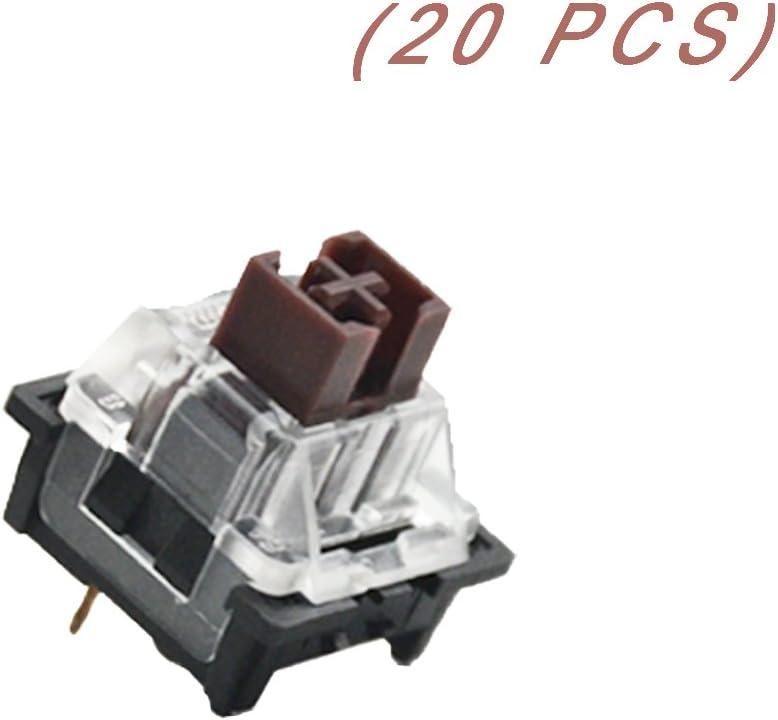 OUTEMU (Gaote) interruptor de 3 pines para teclado mecánico de juego con interruptores reemplazables para bricolaje (20 piezas)