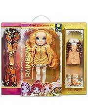 Rainbow High Winter Break Poppy Rowan - Oranje Fashion Doll met 2 outfits, sneeuw uitrusting & standaard - Inclusief Ski's, schaatsen, accessoires & meer - Cadeau & Verzamelbaar voor kids van 6+ jaar