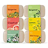 #5: O Naturals 6 Piece Citrus Vitamin C & E Bar Soap Collection, Made with Organic Coconut & Olive Oil. Vegan, Triple Milled, Fresh Citrus Scents. Face, Hand & Body Wash. Gift Set. For Women & Men. 4 oz.