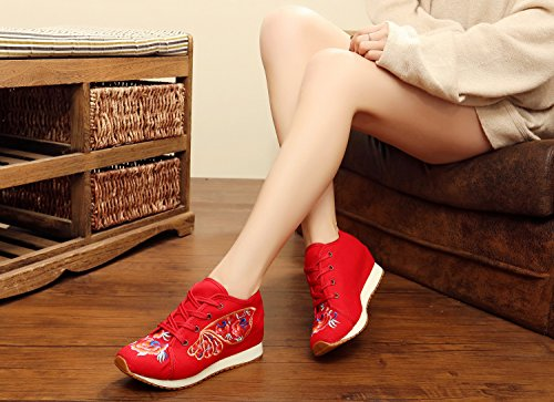 KHSKX-Fashion Women'S Shoes Women'S Shoes Embroidered Dichotomanthes End Canvas Shoes. Forty-one znfSvppOfR