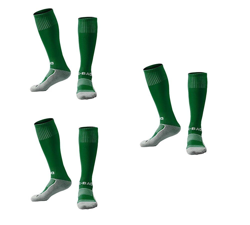 OUAYJI kids Knee High Sport Towel Bottom training compression Soccer Football Socks 3 pairs dark green by OUYAJI