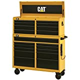 Cat 19-Drawer Ball-Bearing Tool Chest and Cabinet Combination, 52'' W - Designed, Engineered and Assembled in the USA