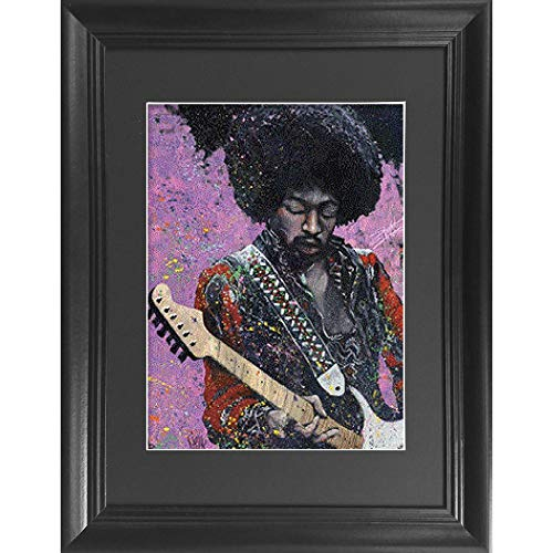 Jimi Hendrix 3D Poster Wall Art Decor Framed Print | 14.5x18.5 | Lenticular Posters & Pictures | Memorabilia Gifts for Guys & Girls Bedroom | Legendary Rock Guitarist Greatest Hits Guitar Fan Artwork