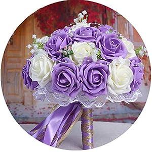meiguiyuan Woman Wedding Bouquet Peonies for Bridals Holder Flowers Handmade Rose Bridal Wedding Photography Props Bridal Flowers 2019 52