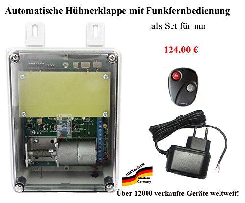 automatische Hühnerklappe mit Funkfernbedienung - Direkt vom Hersteller!