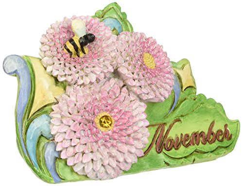 Department 56 Jim Shore Heartwood Creek November Chrysanthemum-Citrine Figurine, 3