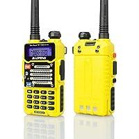 Baofeng Yellow BF-F9 V2+ 8Watt Tri-Power (4/6/8w) (USA Warranty) Dual-Band 136-174/400-520 MHz FM Ham Two-way Radio Transceiver (Certified Refurbished)