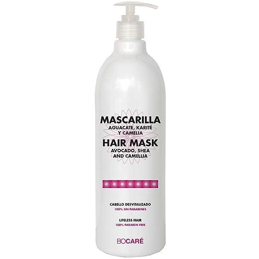 Bocaré Mascarilla de Macadamia y Argán Ideal Para Cabello Dañado, Seco y Desvitalizado, 0% Parabenes, 1000 ml: Amazon.es: Belleza