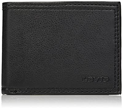Levi's Men's RFID Security Blocking Extra Capacity Leather Slimfold Wallet