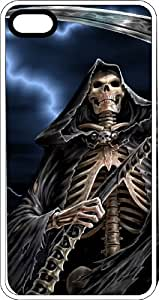 Grim Reaper & His Sickle White Rubber Case for Apple iPhone 4 or iPhone 4s