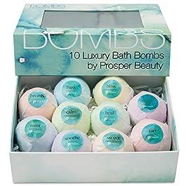 Bath Bomb Gift Set 10 [BOMBS by Prosper Beauty] Fragrant Fizzies Spa Handmade Natural Organic Essential Oils…