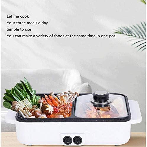 ZLSANVD Ménagers multifonctions Petit électrique Hot Pot, d'économie d'énergie, utilisation facile, peut être utilisé for les fritures, œufs frits, la cuisine, Griller