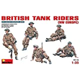 "Miniart 1:35 Scale ""British Tank Riders NW Europe"" Plastic Model Kit"