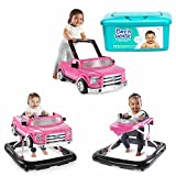 Bright Starts 3 Ways To Play 3-in-1 Activity Baby Walker Car for Boys, Ford F 150 in PINK with Hypoallergenic Baby Wipes