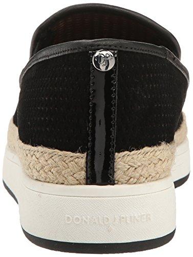Donald J Pliner Dames Maite-ol Stof Lage Top Slip Op Fashion Sneakers Zwart Olieachtig Suède