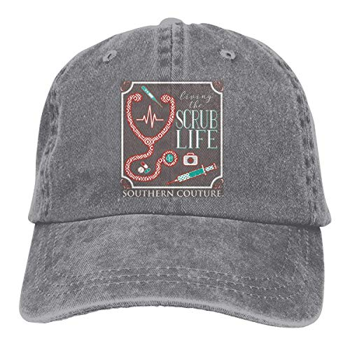 Southern Couture Preppy Living The Scrub Life Nurse Vintage Baseball Cap Trucker Hat for Men and - Trucker Couture Hat