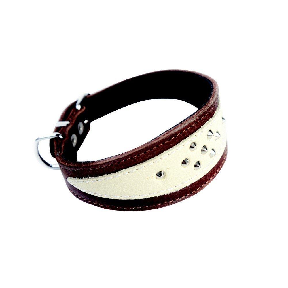 Dingo Collier pour lévrier Whippet en Cuir Souple, 16–45mm x 28cm 16-45mm x 28cm 12398