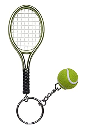 Gran Llavero, Joyas de Bolsa Raqueta Verde + Pelota de Tenis ...