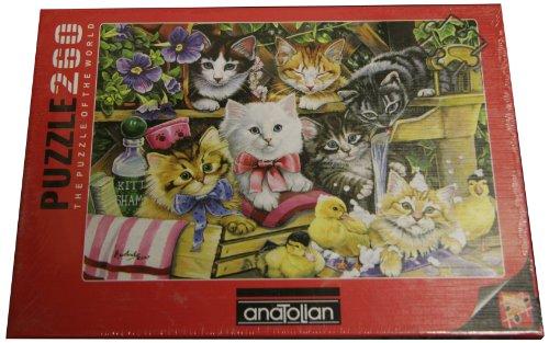 Price comparison product image Anatolian Bathtime Kittens Jigsaw Puzzle, 260-Piece