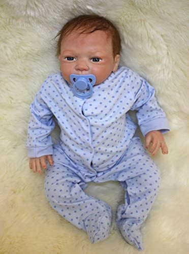 Pinky Reborn 18 45cm Soft Silicone Vinyl Real Life Like Reborn Babies Doll Realistic Reborn Baby Dolls with Free Magnet Pacifier