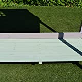Outsunny Outdoor Rustic Wooden Potting Bench Garden Planting Table with Storage