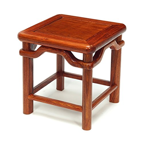 - AIDELAI Bar Stool chair- Small Stool Stool Stool Stool Ming Style Antique Stool Solid Wood Stool Creative To Wear Shoes Stool (30 30 31cm) Saddle Seat