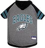 NFL PHILADELPHIA EAGLES HOODIE for DOGS & CATS. | NFL FOOTBALL licensed DOG HOODY Tee Shirt, Medium| Sports HOODY T-Shirt for Pets | Licensed Sporty Dog Shirt.