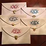 Monogrammed Clutch, Monogrammed Purse, Monogrammed Clutch Purse, Monogrammed Bag, Envelope Clutch Purse, Faux Leather Purse, Personalized