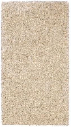 Ikea adum – Alfombra de pelo largo en elfenbeinweiß; (80 x