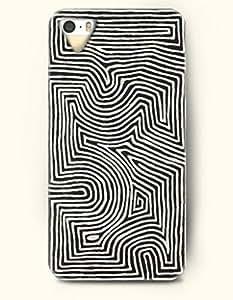 SevenArc Phone Cover Apple iPhone case for iPhone 4 4s -- Black and White Fingerprint