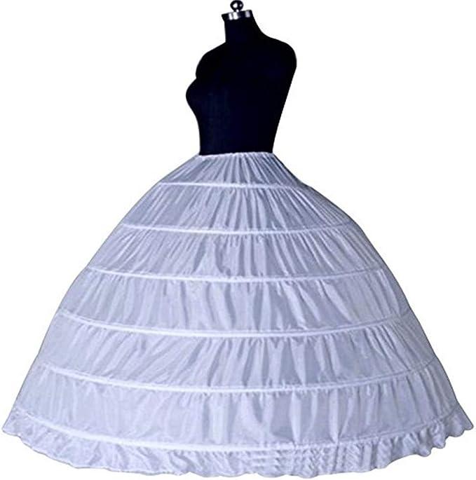 6 Rippled Underskirt Hoop Falda Enagua Crinolina para Vestidos ...