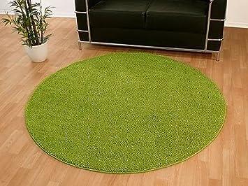Hochflor shaggy teppich palace grün rund reduziert amazon