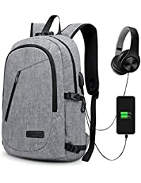 Anti-Theft Backpack, Theft Business Laptop Backpack with USB Charging Port and Earphone Port