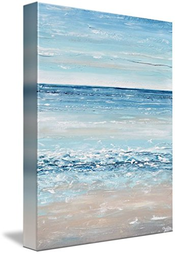 Wall Art Print entitled ''Life's A Beach'' Blue Abstract Painting by Christine Krainock | 36 x 48 by Imagekind