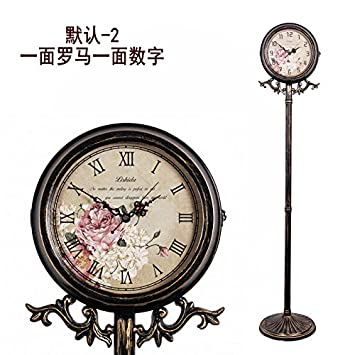 Y Hui The Living Room Floor Clock, A Clock Base Clock Iron Art Craft