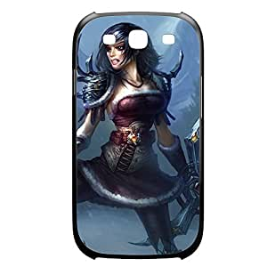 Sivir-002 League of Legends LoL case cover for Samsung Galaxy S3, I9003 - Plastic Black
