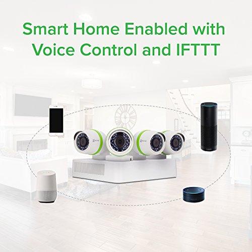 EZVIZ FULL HD 1080p Outdoor Surveillance System, 4 Weatherproof HD Security Cameras, 4 Channel 1TB DVR Storage, 100ft Night Vision, Customizable Motion Detection by EZVIZ (Image #3)