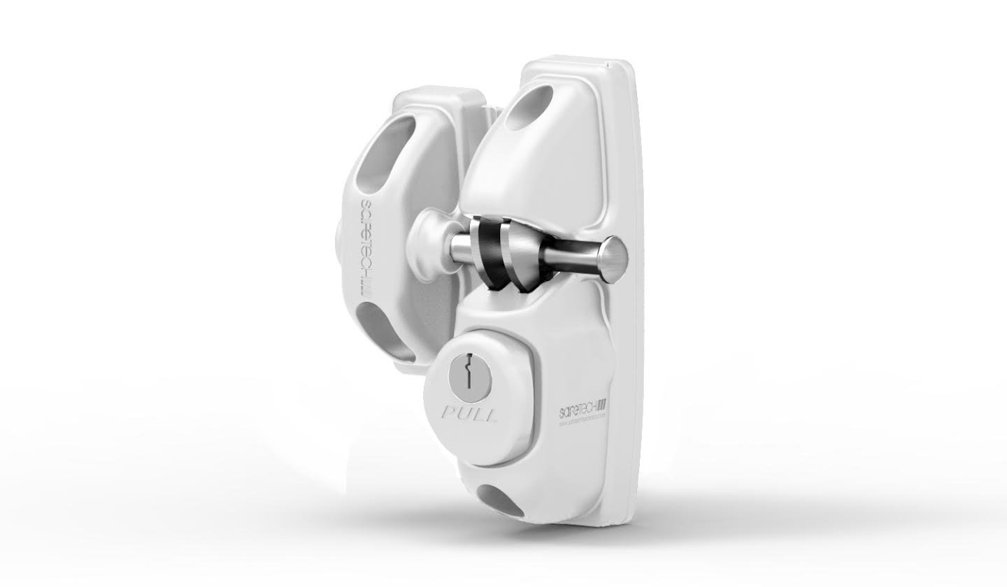 Safetech Viper Gate Latch (SLV-VIPER-X2) (White)