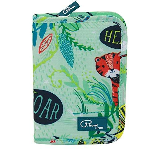 Tuscall Travel Wallet Family Passport Holder RFID Blocking Waterproof Document Organizer Credit Card Clutch Bag for Men Women (Multi-Color) - Bag Credit Card Wallet Holder