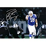 """Peyton Manning """"Black and White"""" Autograph Replica Poster"""