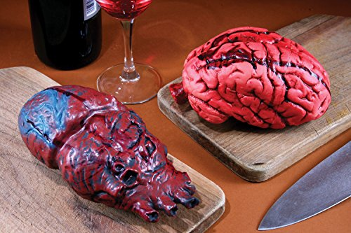 Fun World Halloween Horror Decor Red and Blue Bloody Heart Vital Organ Prop Decoration]()