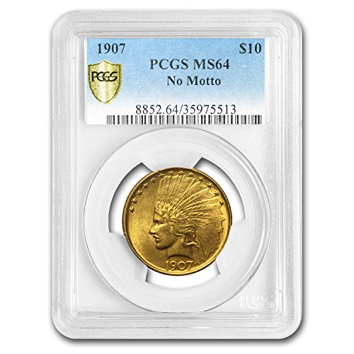 1907 $10 Indian Gold Eagle No Motto MS-64 PCGS G$10 MS-64 PCGS